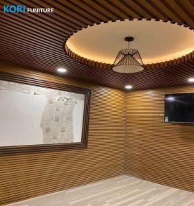 Tư vấn mua ốp tường chống ẩm mốc., tấm mẫu ốp tường nhựa vân gỗ, thi công ốp tường chống ẩm mốc,