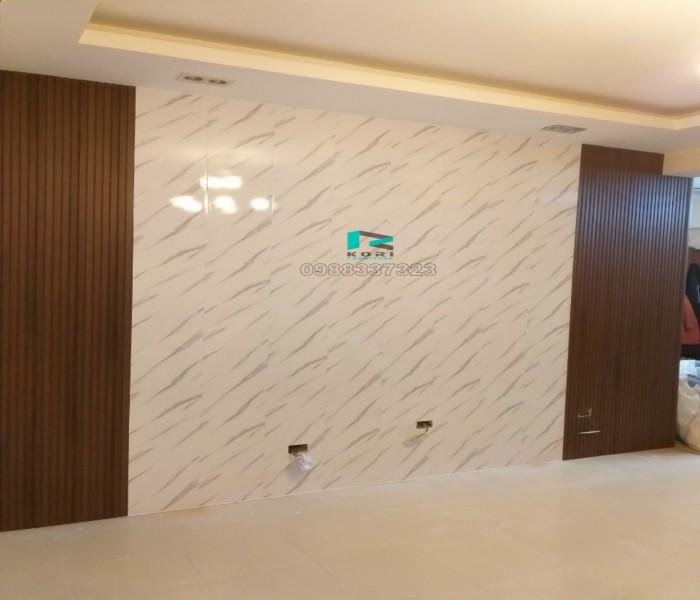 Tấm Ốp Tường PVC giả đá ngăn vách